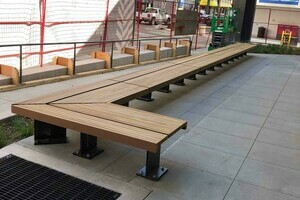 Kebony Benches at Epic 103 Street, Edmonton