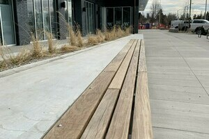 Ipe Wood benches at Glenora West Block, Edmonton