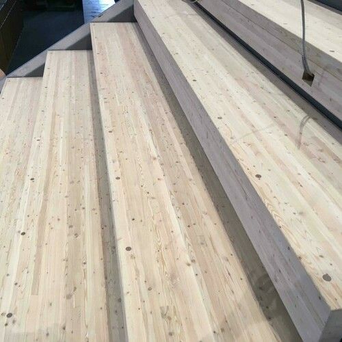 Mass Timber Bleacher Stairs for Edmonton Public Schools